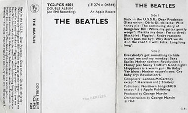 1971 re-issue cassette inlay.