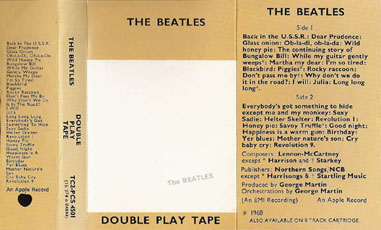 1976 re-issue gold cassette inlay