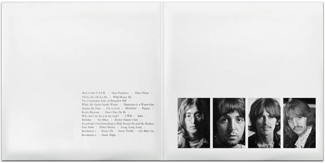 Hamilton's inter-gatefold design for the Beatles 'White Album'