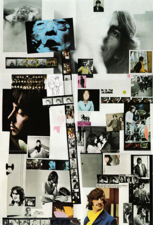 Hamilton's photo collage poster included with the album