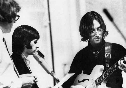 Mal Evans, Ringo and John, White Album Sessions, Abbey Road Studios (1968)