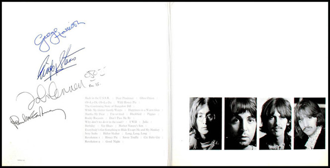 The First Fully Signed Beatles 'White Album' Ever To Be Auctioned