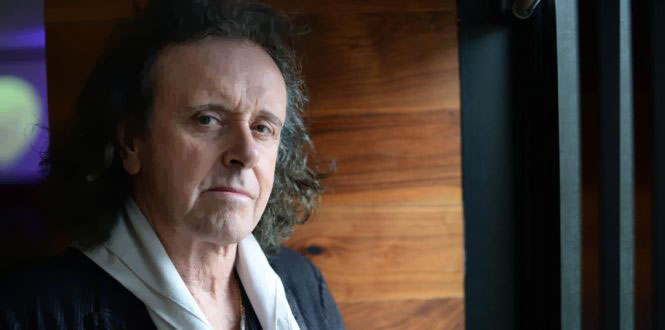 Singer Donovan gave a lecture on the White Album, one of a series of 12 lectures on each of The Beatles' albums taking place to mark the 50th anniversary of the band's only Irish concert. Photograph: Dara Mac Dónaill
