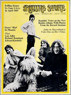 Rolling Stone Magazine, (December 1968)