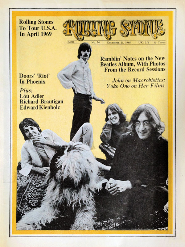 Rolling Stone Issue No.24 December 21, 1968.
