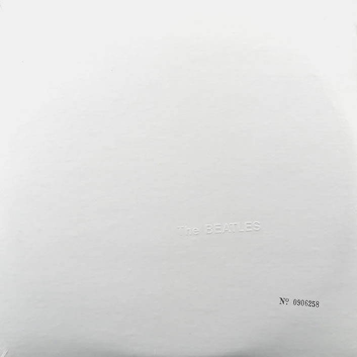 Richard Hamilton's minimalist sleeve design for <em>The Beatles</em> (aka <em>The White Album</em>) (1968).