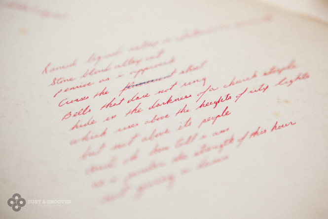 People used to have good handwriting.