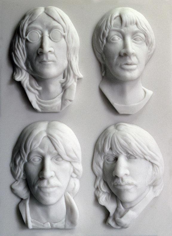 Artist Max Totten's White Album inspired sculpture.