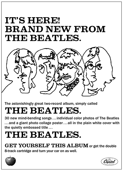 Promotional poster issued by Capitol Records 1968.