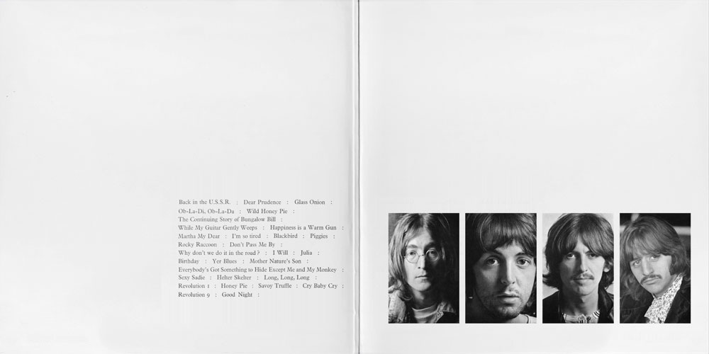 — Richard Hamilton's inter gatefold design for <em>The Beatles</em> album.