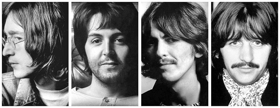 The Beatles alternative album inserts photos.