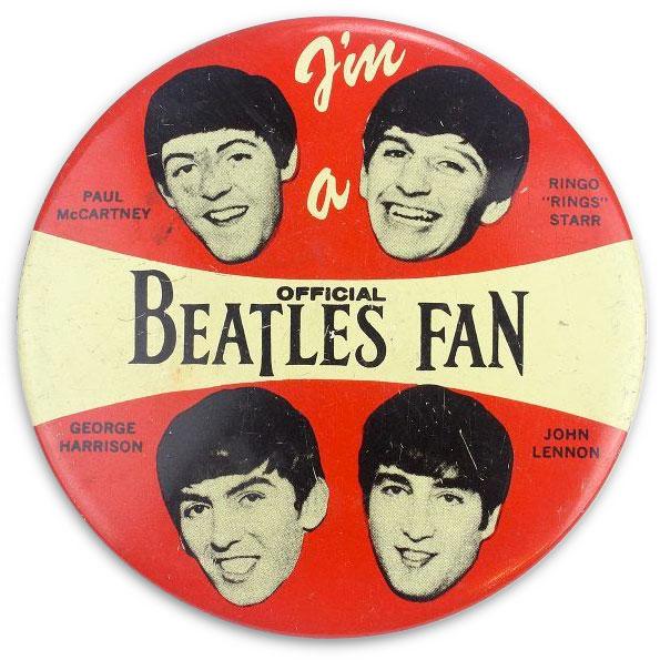 I'm a Beatles Fan button (1964)