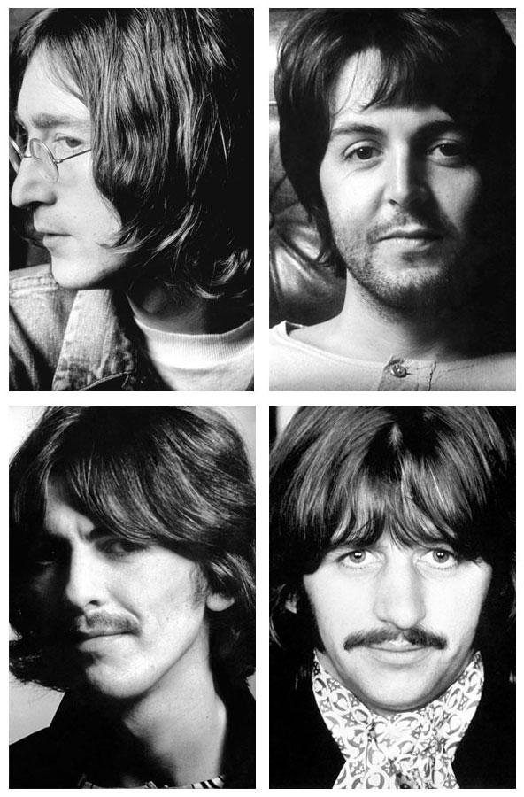 The Beatles alternative album insert photos.