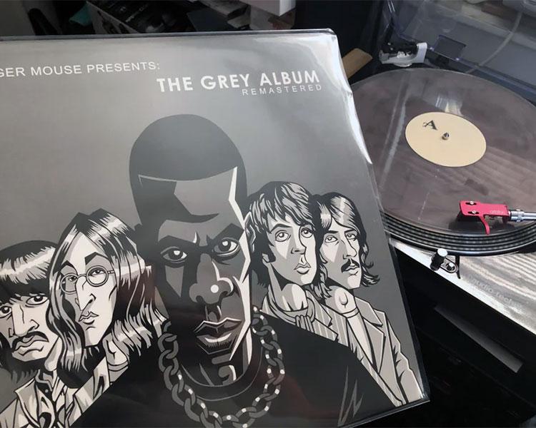 John Stewart's remastered version of DJ Danger Mouse's 'The Grey Album' on vinyl.