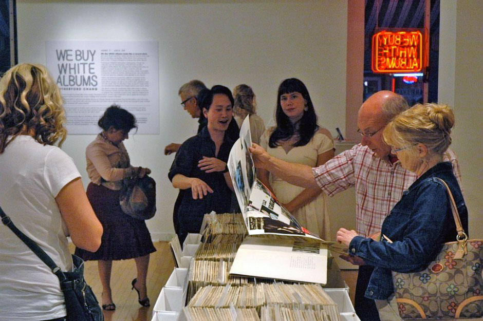 Rutherford Chang's White Album Record Store Moves Into the iMOCA.