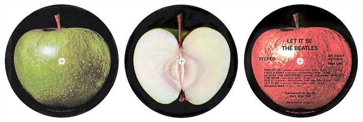 Apple Records label art.