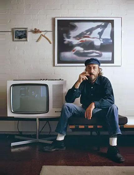 Richard Hamilton around 1970.  photo by Tony Evans